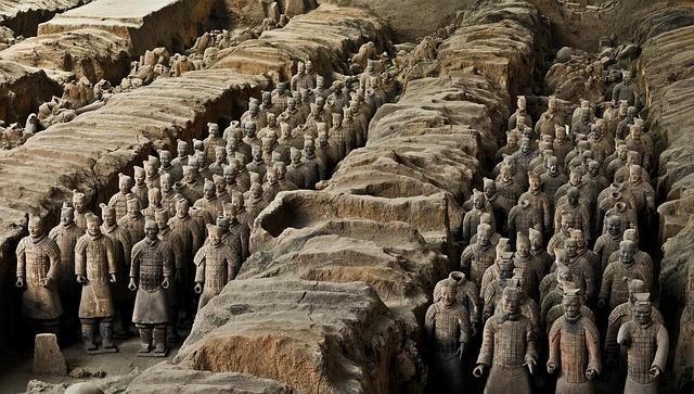 חיילי הטרקוטה, סין